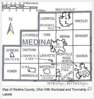 Medina County Ohio Map